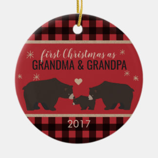 Personalized Plaid Grandparent's Ornament