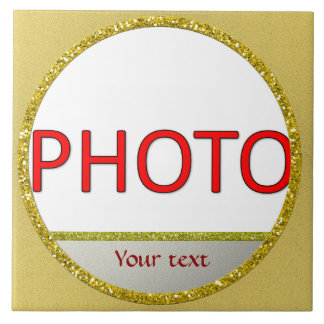 Personalized plaque with photo tile