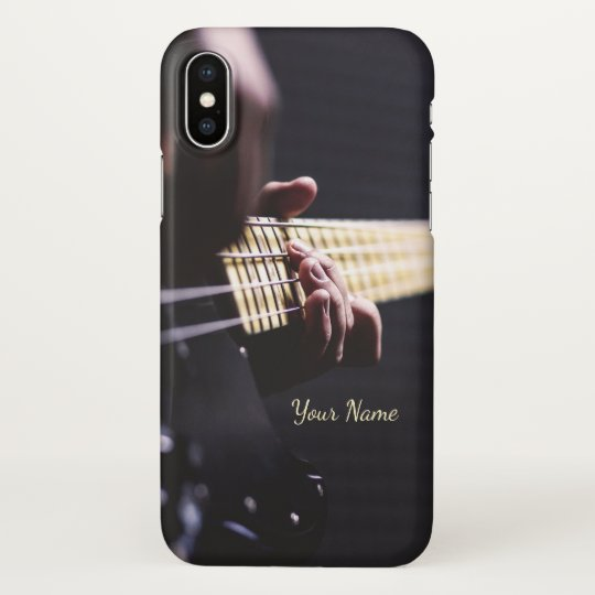 Personalized Playing Bass Guitar iPhone X Case