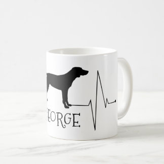 Personalized Pointer Love My Dog Heart Beat Coffee Mug