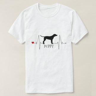 Personalized Pointer Love My Dog Heart Beat T-Shirt