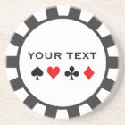 Personalized Poker Chip coasters