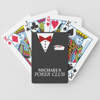 Personalized Poker Club Bicycle® Playing Cards