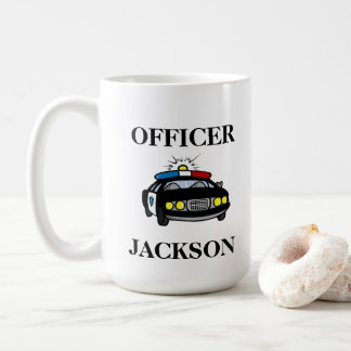 Personalized Police Car Officer Coffee Mug