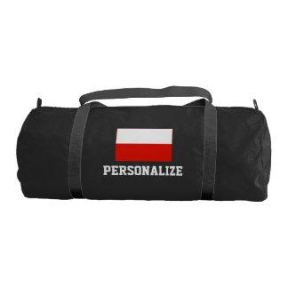 Personalized Polish flag duffle gym bag   Poland