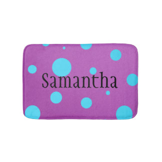 Personalized Polka Dot Bath Mat for Teens