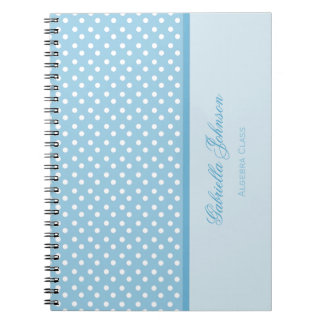 Personalized: Polka Dot Notebook