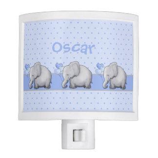 Personalized Polka Dots Baby Elephant Nursery Good Nite Lights