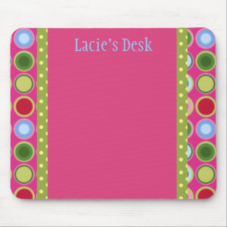 PERSONALIZED POLKA DOTTIES MOUSE PAD