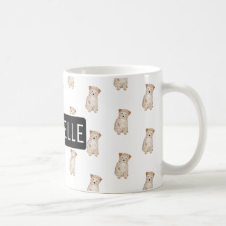 Personalized Polygon Puppy Coffee Mug