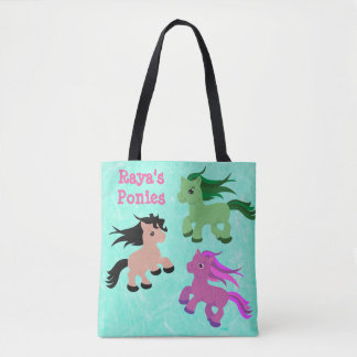 Personalized Ponies & Unicorns Tote Bag