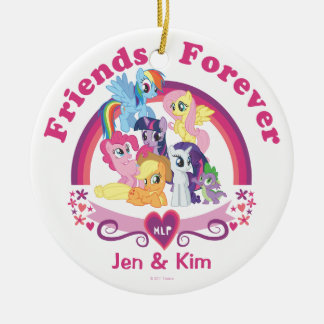 Personalized Pony Designs Round Ceramic Ornament