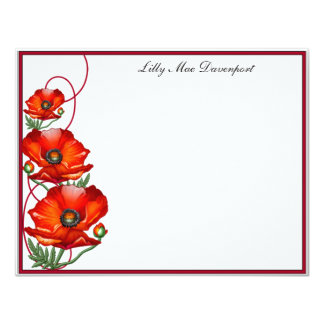 Personalized Poppy Correspondence Card