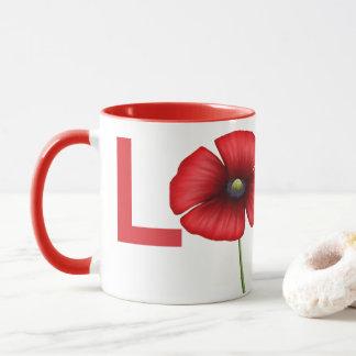 Personalized Poppy Love Mug