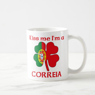 Personalized Portuguese Kiss Me I'm Correia Coffee Mug