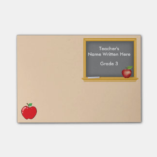 Personalized Post-it Notes - Chalkboard and Apple