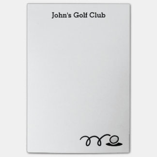 Personalized Post-it® notes for golf club Post-It Notes