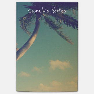 Personalized Post-it® notes with palm tree photo