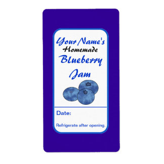 Personalized Preserve Labels Blueberry Jam Labels
