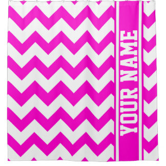 Personalized Pretty In Hot Pink Chevron Pattern