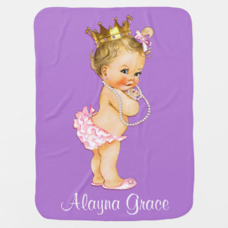 Personalized Princess Baby Double Sided Baby Blanket