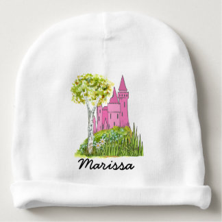 Personalized Princess Castle Baby Beanie