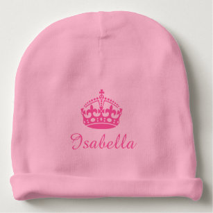 f8ee9449d Personalized princess crown girls baby beanie hat