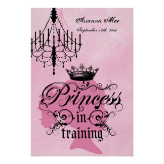 Personalized Princess in Training Nursery Poster