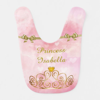 Personalized Princess Isabella Bib, Add Your Name Bib