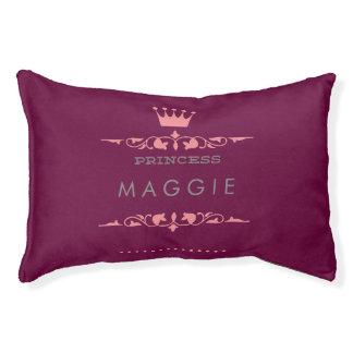 Personalized Princess Pet Bed