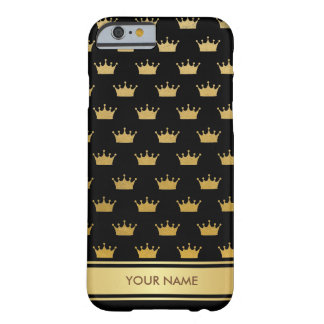 Personalized Princess Royal Glam Black Gold Case