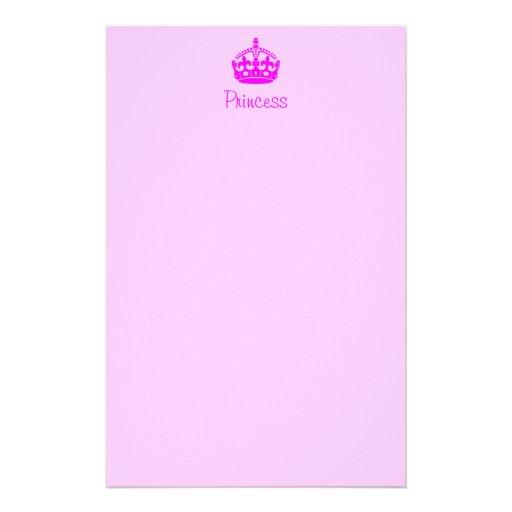 Personalized Princess Stationery