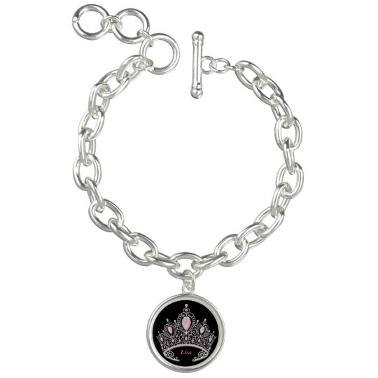 Personalized Princess Tiara Charm Bracelet