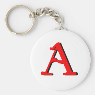 Personalized Products: Initial A Keychain