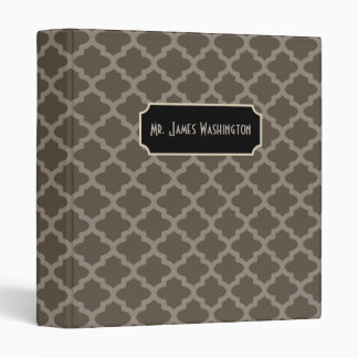 Personalized Professional Brown Binder