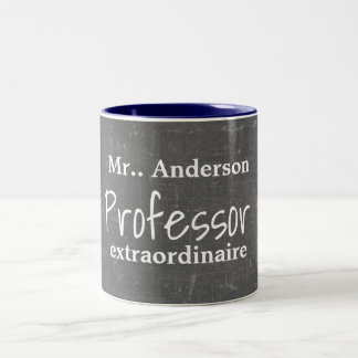 Personalized Professor Extraordinaire - Two-Tone Coffee Mug