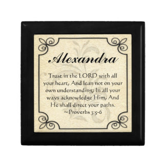 Personalized Proverbs 3 Bible Verse Trinket Box