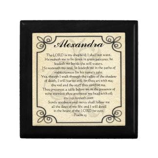 Personalized Psalm 23 Bible Verse Prayer Gift Box