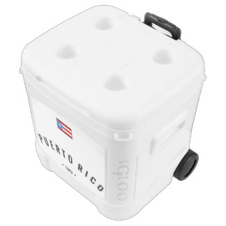 Personalized, Puerto Rico Flag Rolling Cooler