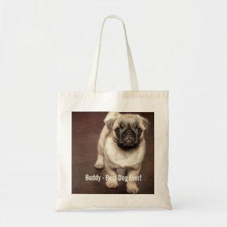 Personalized Pug Dog Photo and Your Pug Dog Name