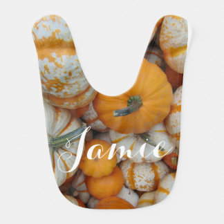 Personalized Pumpkin Bib