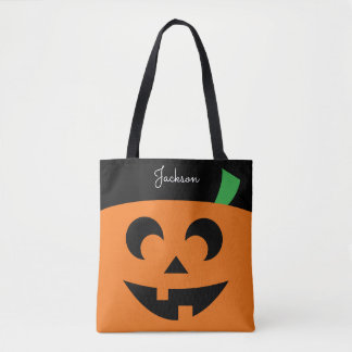 Personalized Pumpkin Treat Bag