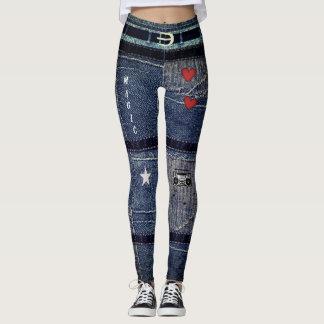 Personalized Punk/Skater Patchwork Denim Design Leggings