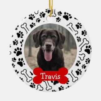 Personalized Puppy Dog Pet Photo Ceramic Ornament