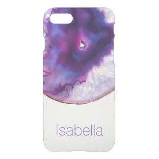 Personalized Purple Agate Gem Crystal iPhone case