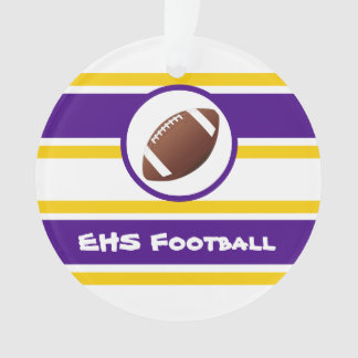Personalized Purple and Gold Football Ornament