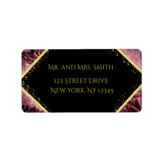 Personalized Purple and Gold Mailing Labels