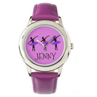 Personalized Purple Ballet Dance Dancer Kid Watch