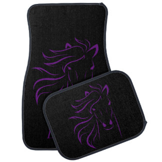 Personalized Purple Beautiful Horse Glamorous Mane Car Mat