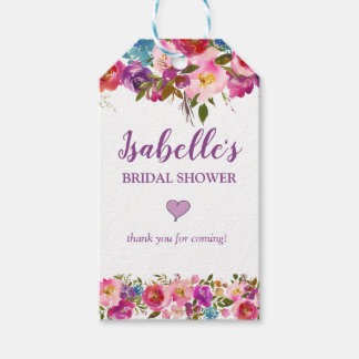 Personalized Purple Bridal Shower FavorTags Gift Tags